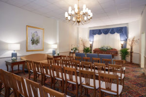 Funeral Parlor Curtains Closed