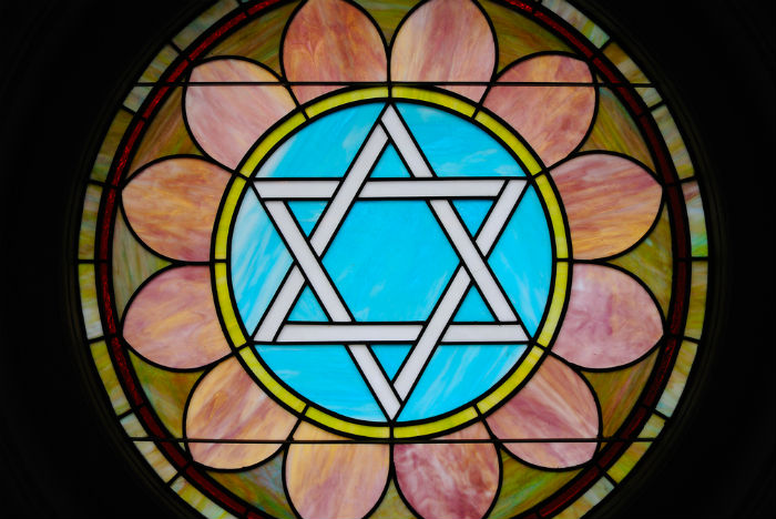Star of David Stained Glass - Decorative